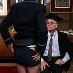 Spanked by the headmaster