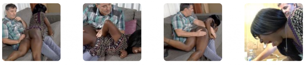 Nuna's Spanking Punishment: Nuna gets a long sustained OTK hand spanking, a leather paddle and a hairbrush