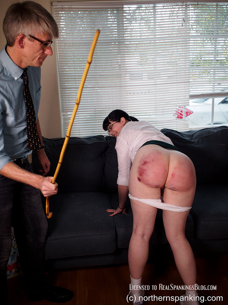 A Schoolgirl's Severe Bare Bottom Caning