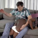 Nuna gets a long sustained OTK hand spanking, a leather