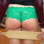Her bottom spanked red