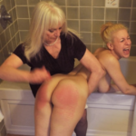 Spanked On Her wet Bare Bottom